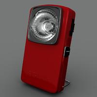 vintage battery lantern 3d model