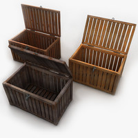 Wooden Trunk Crate Chest
