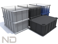 3d model plastic equipment boxes