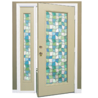 cream door stained glass 3d 3ds