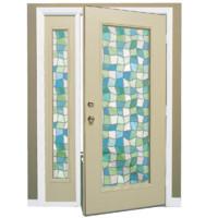 cream door stained glass 3d 3ds