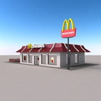 3d model mc donald s modelled