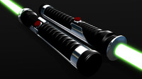 3d model jedi quigon jinn s lightsaber