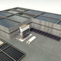 sewage water treatment 3d model