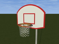 free basketball court 3d model