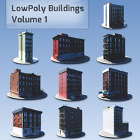 LowPoly Buildings Collection Volume 01