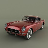 chevrolet corvette corvair concept car 3d model