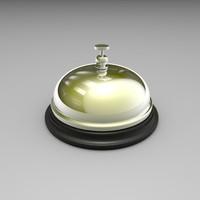 3d model of desk bell