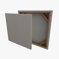 3d model framed canvas paintings