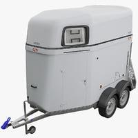 horse trailer boeckmann 3d max