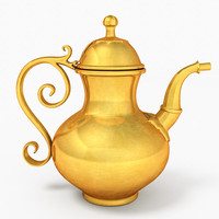 tea pot teapot 3d model