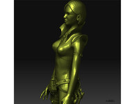 3d character modelling lady model