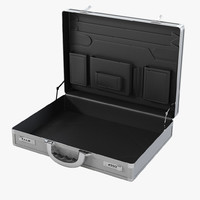 Open Aluminum Briefcase