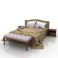 3d model bed 1