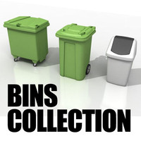 3d european waste bins