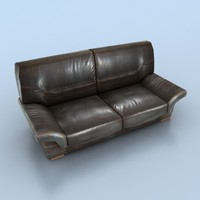 2-seat leather sofa