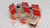 3d fair stand exhibition