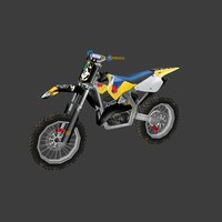 3d obj dirt bike