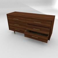 3d model wood dresser