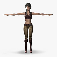 3d female cartoon model