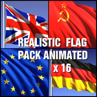 Animated flag set