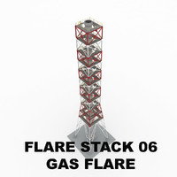 Flare stack (gas flare) 06