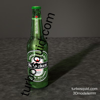 obj heineken beer bottle