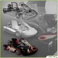 3d go-kart model