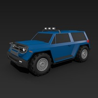 Lowpoly offroad vehicle