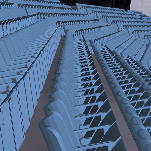 Stadium Lights C4d: Seats Lights Field 3ds