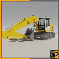 3d liebherr excavator model