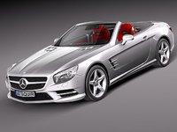 mercedes sl 2013 luxury 3d 3ds