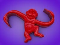 free barrel monkeys 3d model