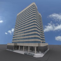 3d model office building urban