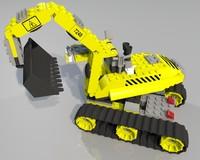 3d lego shovel