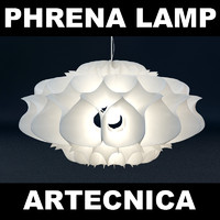 3d phrena light bulb lamp model
