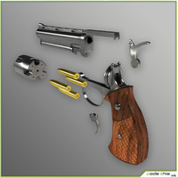 3d model cylinder gun animation
