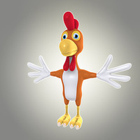 cool cartoon cock 3d model