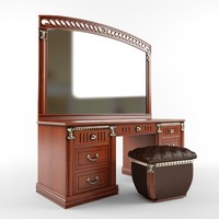 mirror ladies desk dressing table 3d model