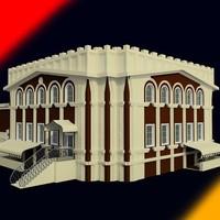 oriental building 3d max