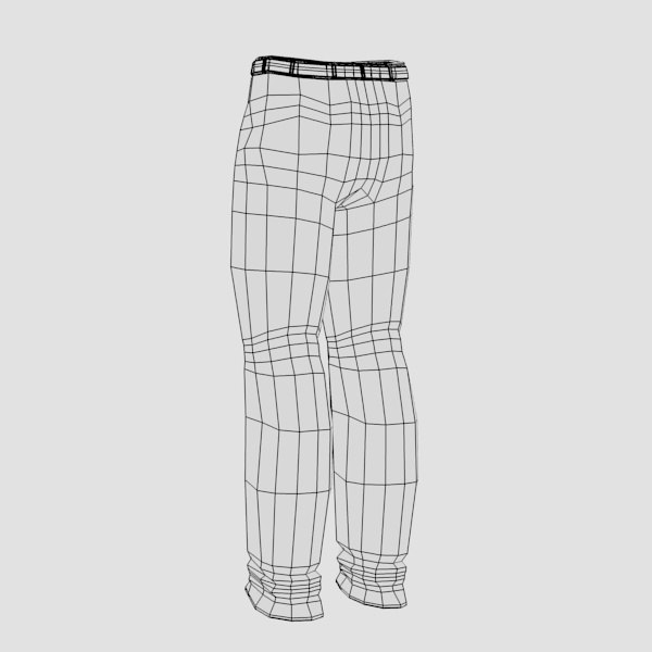 pants 3d model - trousers with... by bescec
