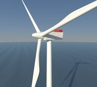 3d model offshore windfarm turbine wind