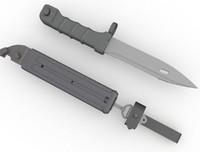 3dsmax ak74 bayonet