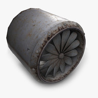 3d model turbine fan