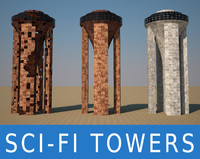 sci fi towers 3d max