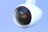 airplane jet engine 3d model