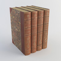 3d model old books 1