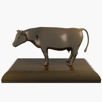 cow ornament 3d max