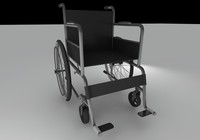 wheelchair chair wheel 3d model