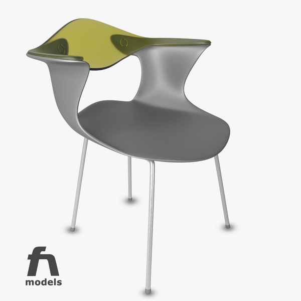 3d bluebelle chair - Driade Chair... by modelbay